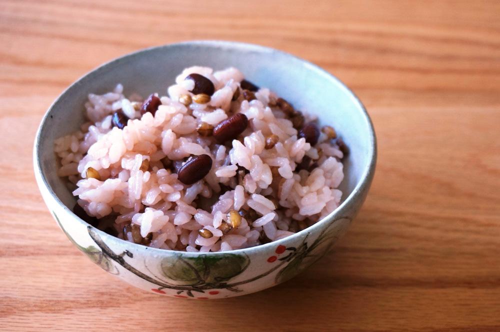 小豆と麦のデトックスご飯